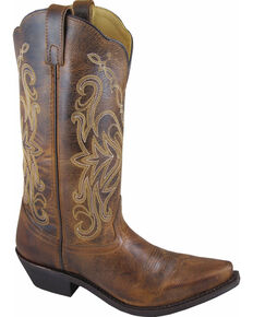 Smoky Mountain Madison Cowgirl Boots - Snip Toe, Brown, hi-res