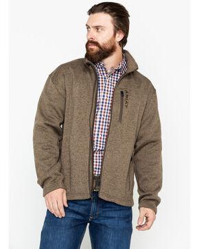 Ariat Men's Caldwell Full Zip Sweater Jacket , Olive, hi-res
