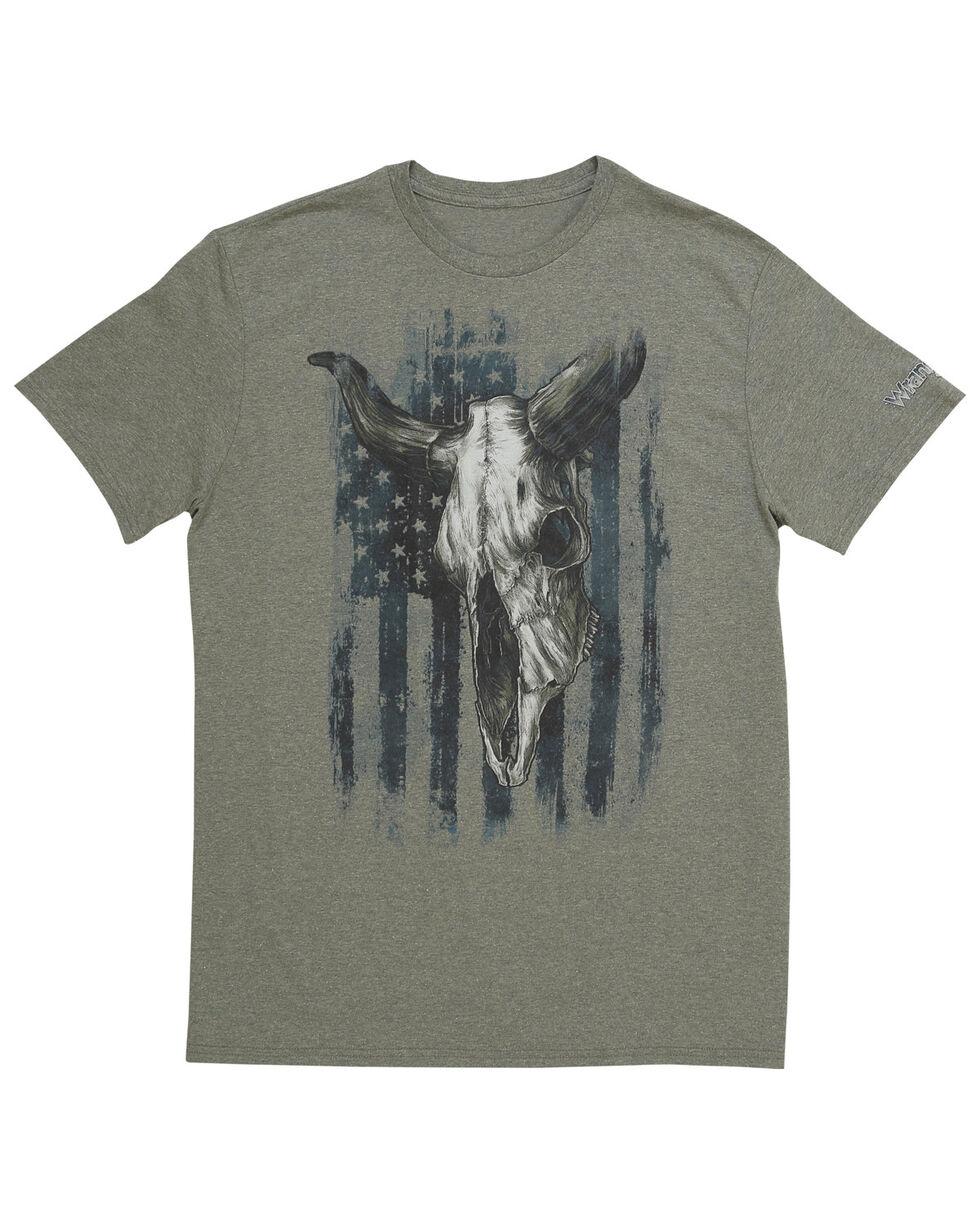 Wrangler Men's Americana Bull Skull T-Shirt, Sage, hi-res