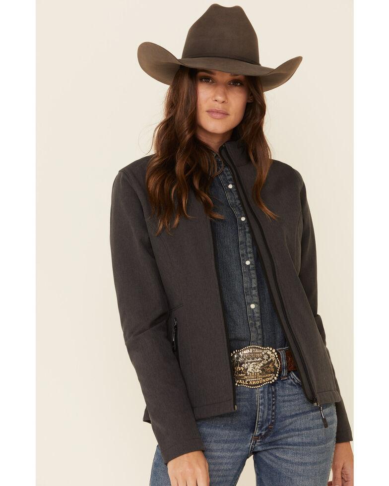 Roper Women's Grey Softshell Bonded Fleece Lined Jacket , Grey, hi-res