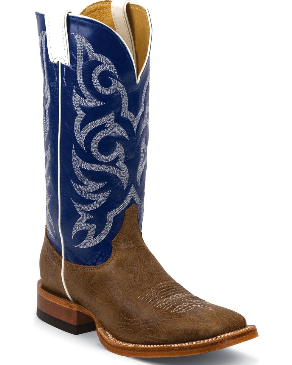 Justin Men's Delta Cowhide Western Boots, Brown, hi-res