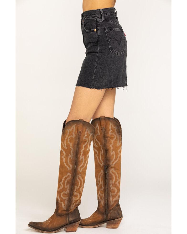 Levi's Women's Black Denim Mini Skirt , Black, hi-res