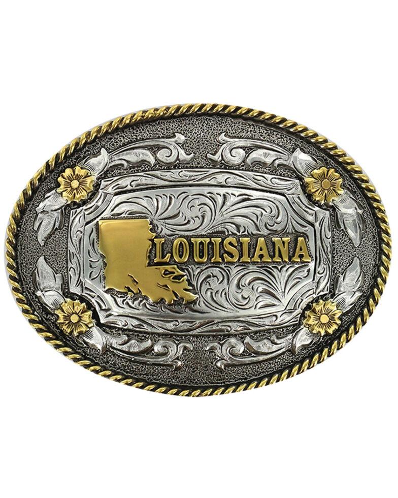 Cody James® Dual Tone Oval Louisiana Buckle, Multi, hi-res