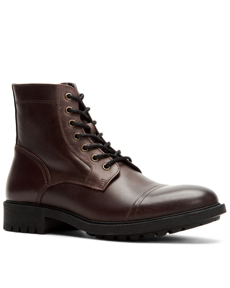 Frye Men's Cody Work Boots - Soft Toe, Dark Brown, hi-res