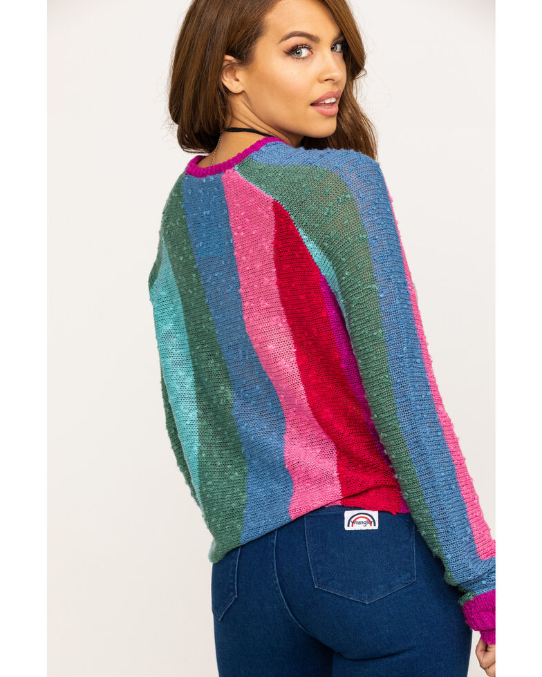Show Me Your Mumu Women's Trina Madly Stripe Knit Sweater , Multi, hi-res