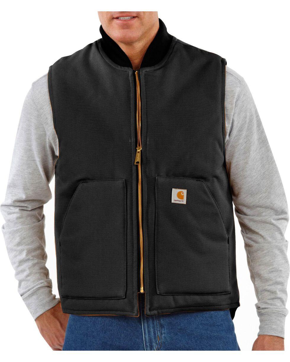 Carhartt Men's Duck Arctic Quilt Lined Vest, Black, hi-res