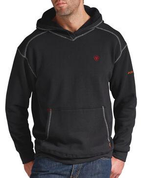 Ariat Men's Flame-Resistant Tek Pullover Hoodie, Black, hi-res