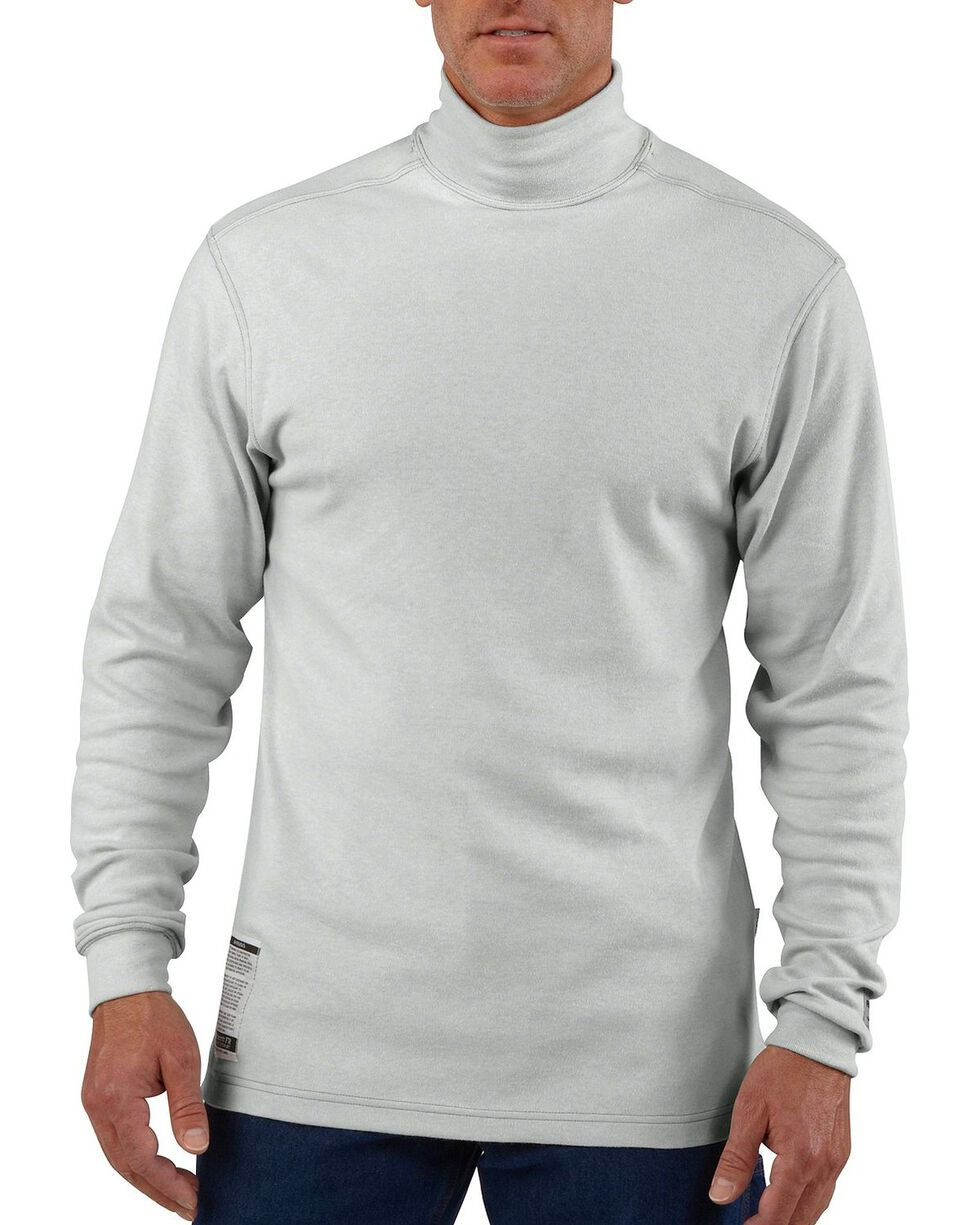 Carhartt Men's Mock Turtleneck Work Shirts, Grey, hi-res