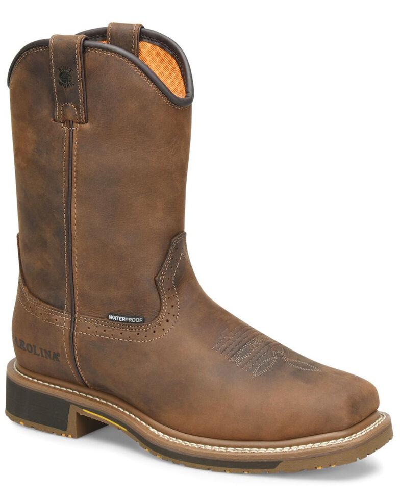 Carolina Men's Anchor Waterproof Western Work Boots - Soft Toe, Brown, hi-res