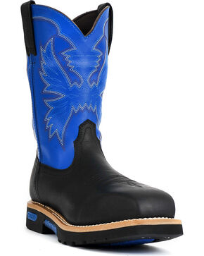 Cinch Men's Neon Composite Toe Western Work Boots, Black, hi-res