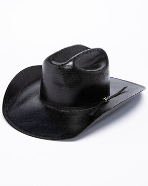Twister 8X Shantung Straw Cowboy Hat, Black, hi-res