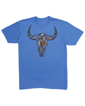 Wrangler Men's Photo Real Bull Rider Tee, Brown, hi-res