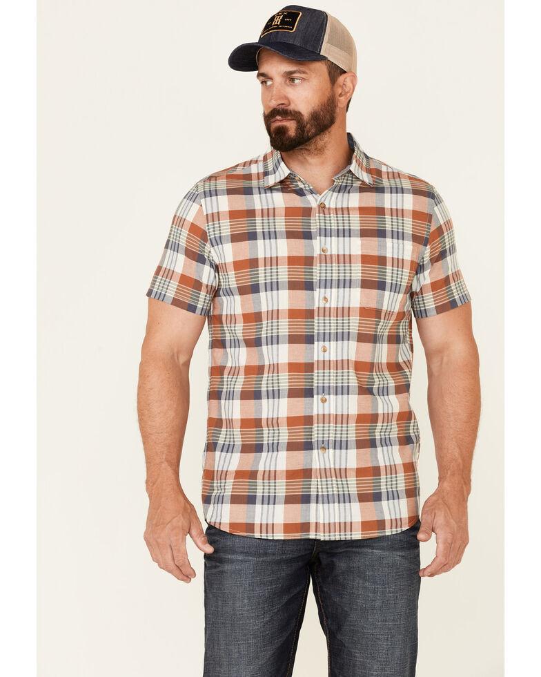 Pendleton Men's Truman Large Multi Plaid Short Sleeve Button-Down Western Shirt , Multi, hi-res