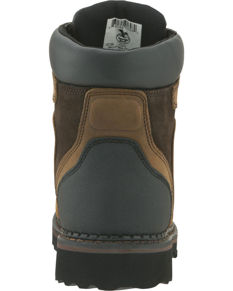 Georgia Men's Waterproof Brookville Work Boots, Dark Brown, hi-res