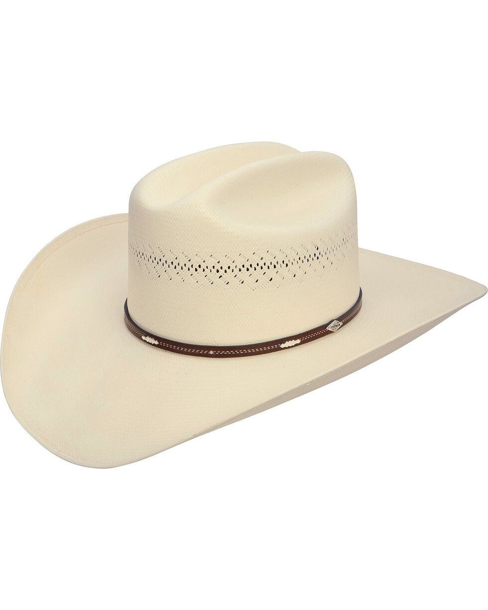 Stetson Men's Deming 10X Shantung Panama Cowboy Hat, Natural, hi-res