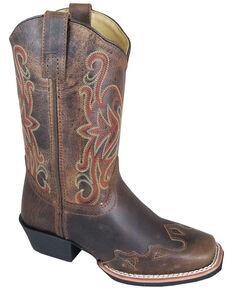 Smoky Mountain Boys' Rialto Western Boots - Square Toe, Brown, hi-res