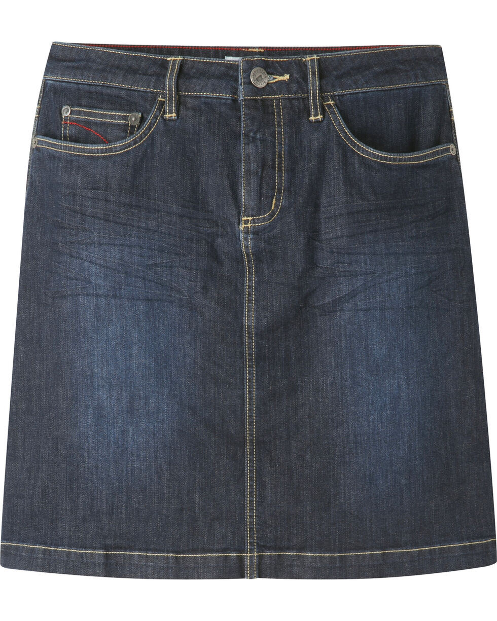 Mountain Khakis Women's Dark Wash Genevieve Denim Skirt, Indigo, hi-res