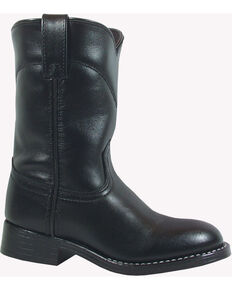 Smoky Mountain Kid's Roper Boots, Black, hi-res