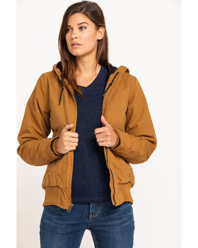 Carhartt Women's Sandstone Quilted-Flannel Active Jacket, Brown, hi-res