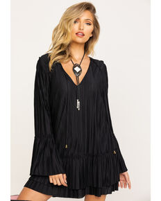 Free People Women's Can't Help It Mini Dress, Black, hi-res