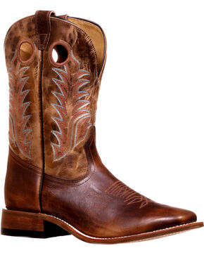 Boulet Men's Challenger Stockman Cowboy Boots - Square Toe, Brown, hi-res