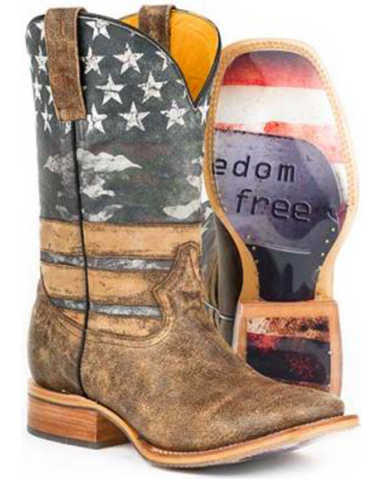 Tin Haul Men's Freedom Western Boots, Brown, hi-res