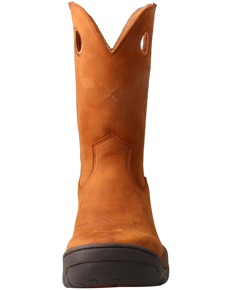 Twisted X Men's Red Buckle All Around Boots - Round Toe, Tan, hi-res