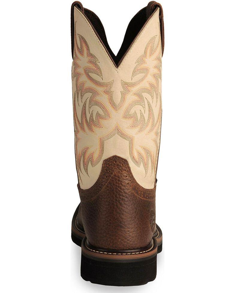 """Justin Men's Stampede 11"""" Steel Toe Western Work Boots, Copper, hi-res"""