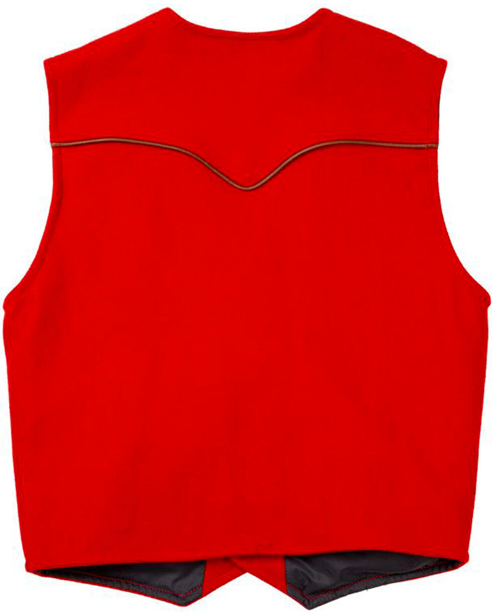Schaefer Outfitter Men's Red Stockman Melton Wool Vest , Red, hi-res