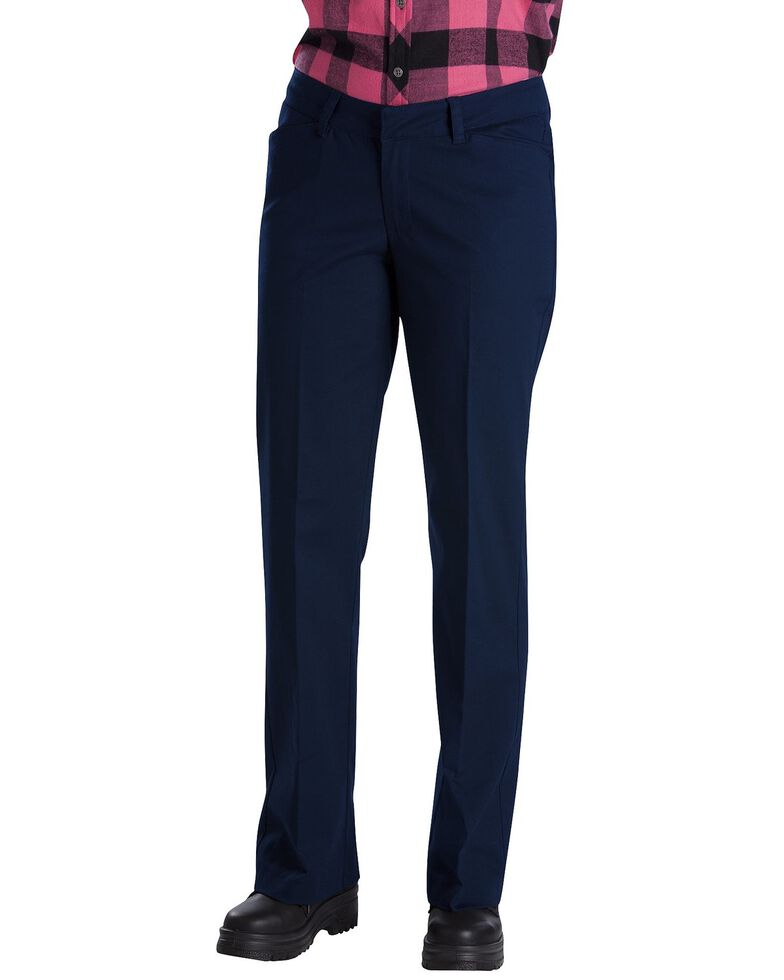 Dickies Women's Relaxed Stretch Twill Pants, Navy, hi-res