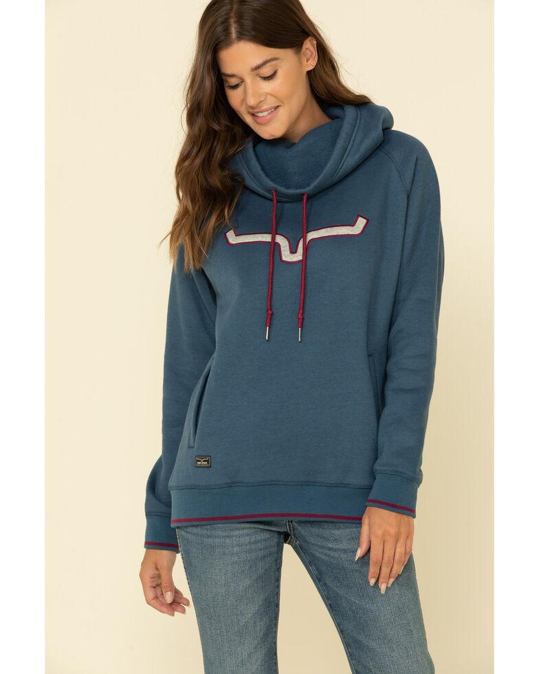 Kimes Ranch Women's Two-Scoops Logo Hoodie Sweatshirt, Blue, hi-res