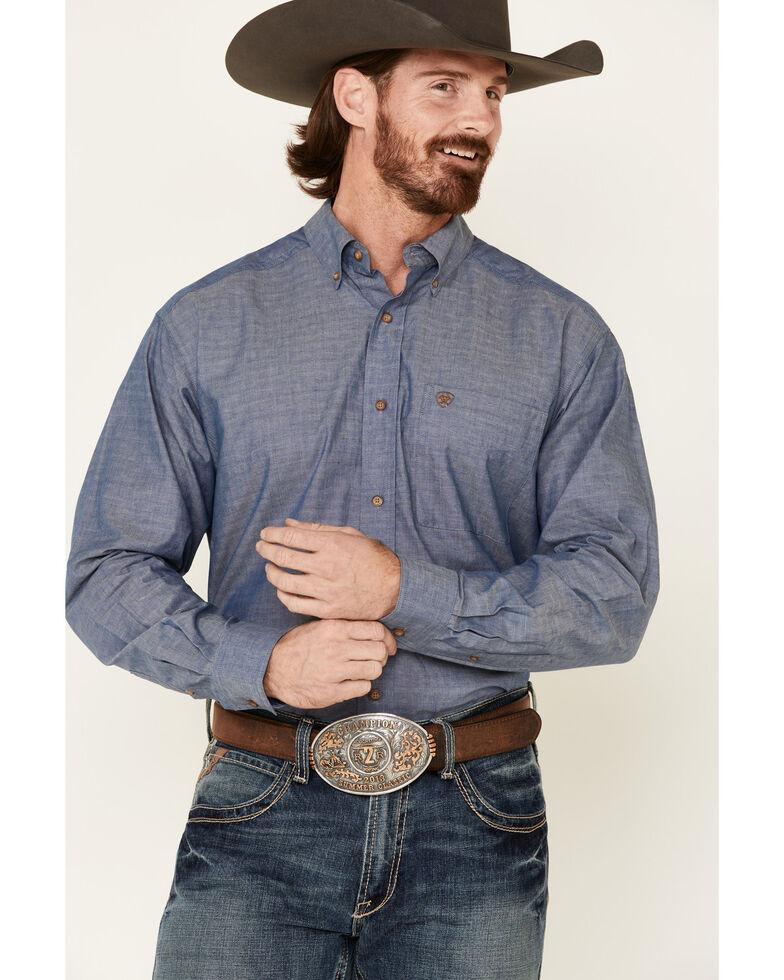 Ariat Men's Thomas Small Diamond Geo Print Long Sleeve Button-Down Western Shirt - Tall , Black, hi-res