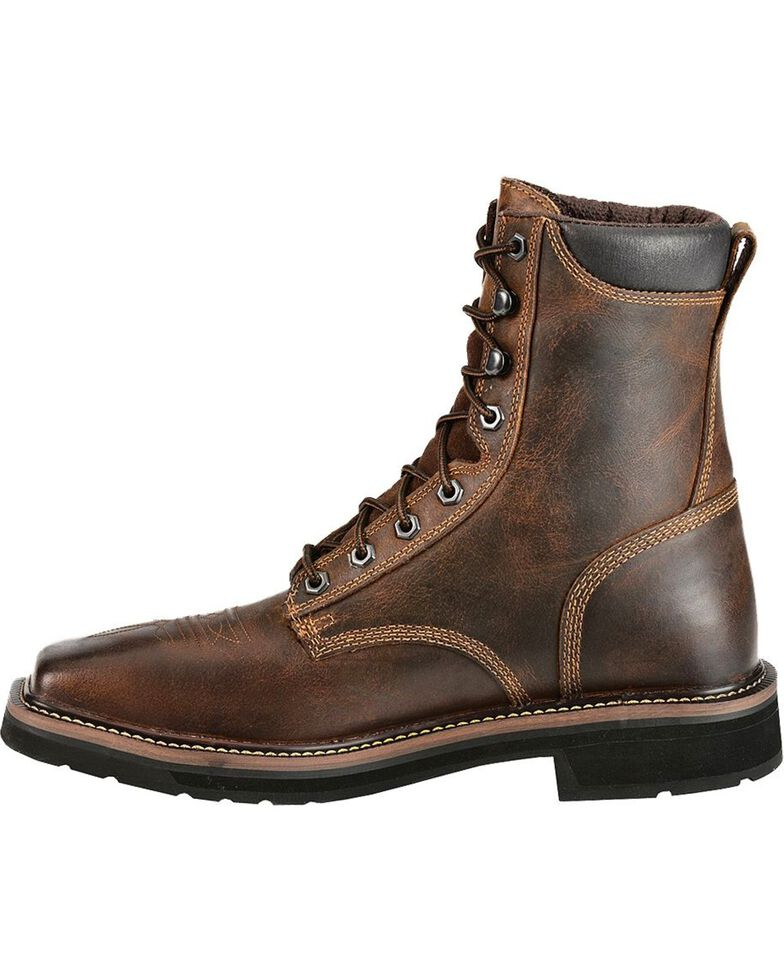 Justin Men's Stampede Steel Toe Lace-Up Work Boots, Rugged, hi-res