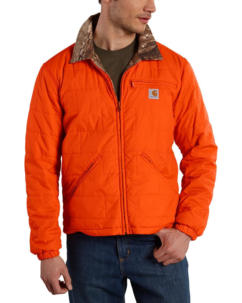 Carhartt Men's Reversible Woodsville Jacket, Orange, hi-res