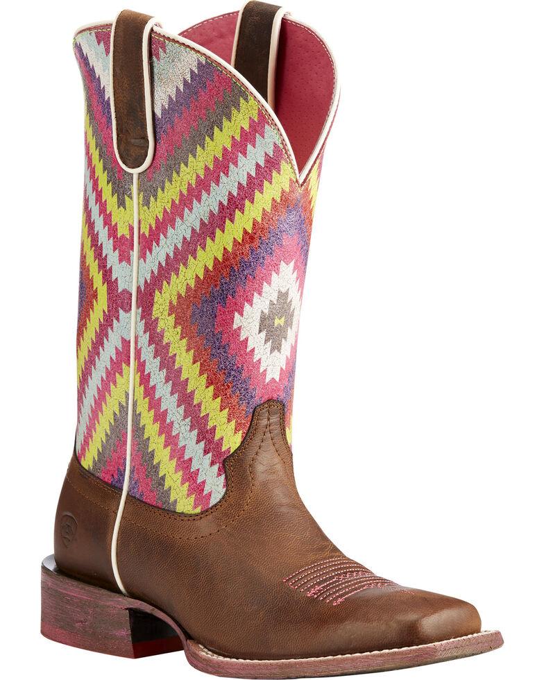 db044524f14 Ariat Women's Brown Circuit Savanna Aztec Boots - Square Toe