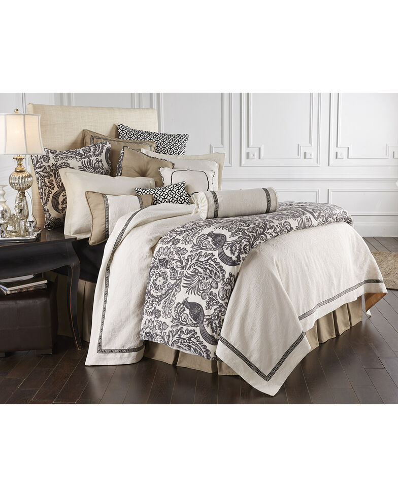 HiEnd Accent Khaki Augusta Four-Piece Bedding Collection, Super Queen, Khaki, hi-res