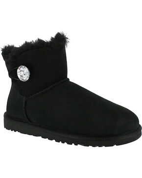 UGG® Women's Mini Button Bailey, Black, hi-res