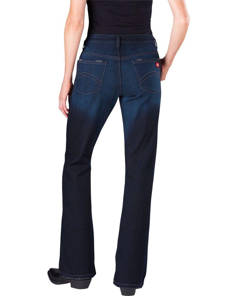 Dickies Women's Slim Fit Bootcut Jeans, Vintage Dark, hi-res