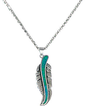 Montana Silversmiths The Storyteller Feather Necklace, Silver, hi-res