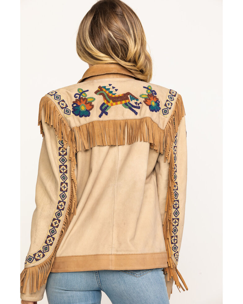 Double D Ranch Women's Panhandle Patsy Jacket, Tan, hi-res