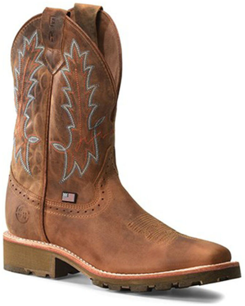 Double H Men's Aberdeen Western Work Boots - Soft Toe, Lt Brown, hi-res