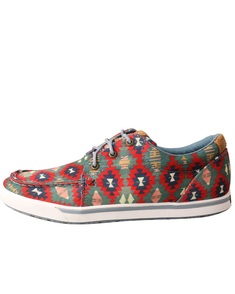 Twisted X Women's Hooey Loper Aztec Shoes - Moc Toe, Multi, hi-res