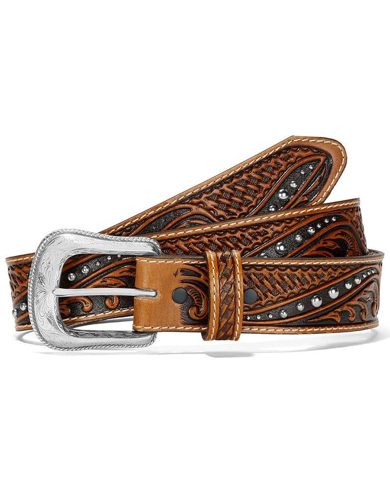Leegin Men's Colton Western Belt, Tan, hi-res