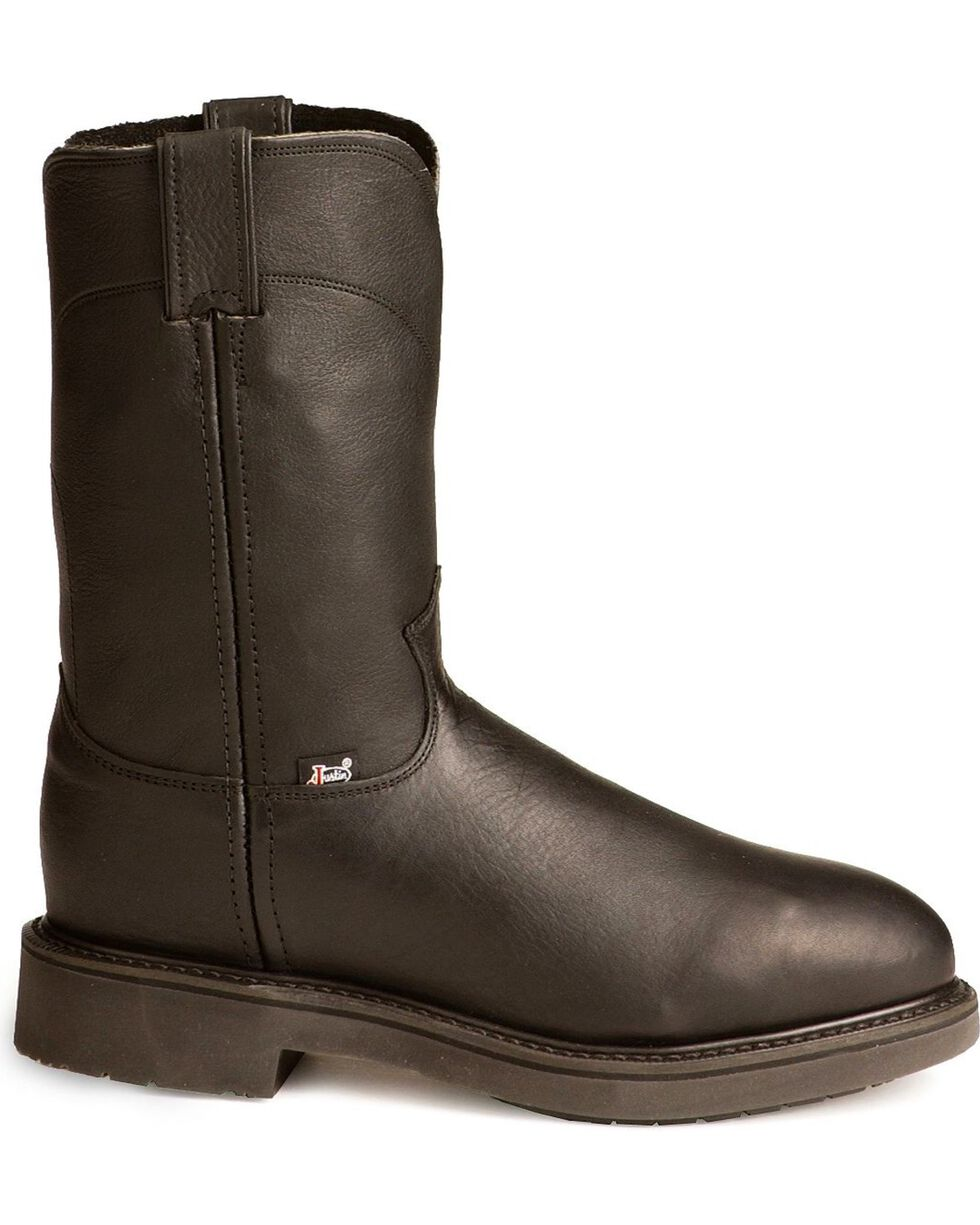 Justin Men's Boots Pull-On Boots, Black, hi-res