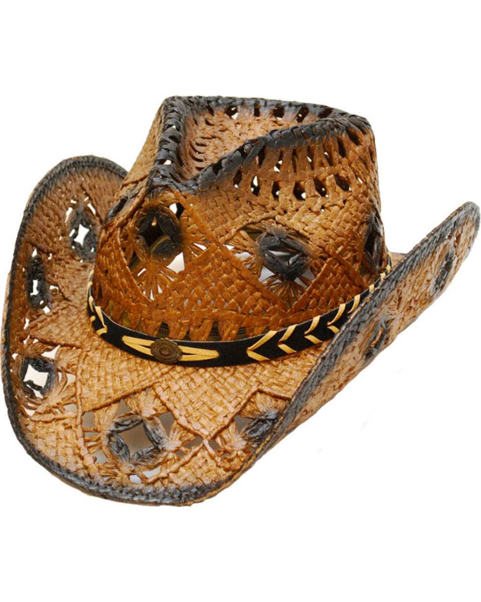 Western Express Kids' Dark Brown Straw Hat , Dark Brown, hi-res