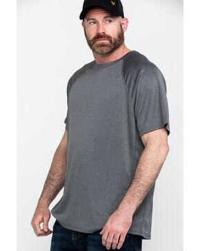 Hawx® Men's Charcoal Solid Performance Work T-Shirt - Big , Charcoal, hi-res
