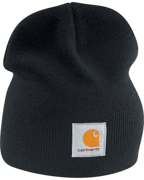 Carhartt Men's Acrylic Knit Beanie, Black, hi-res