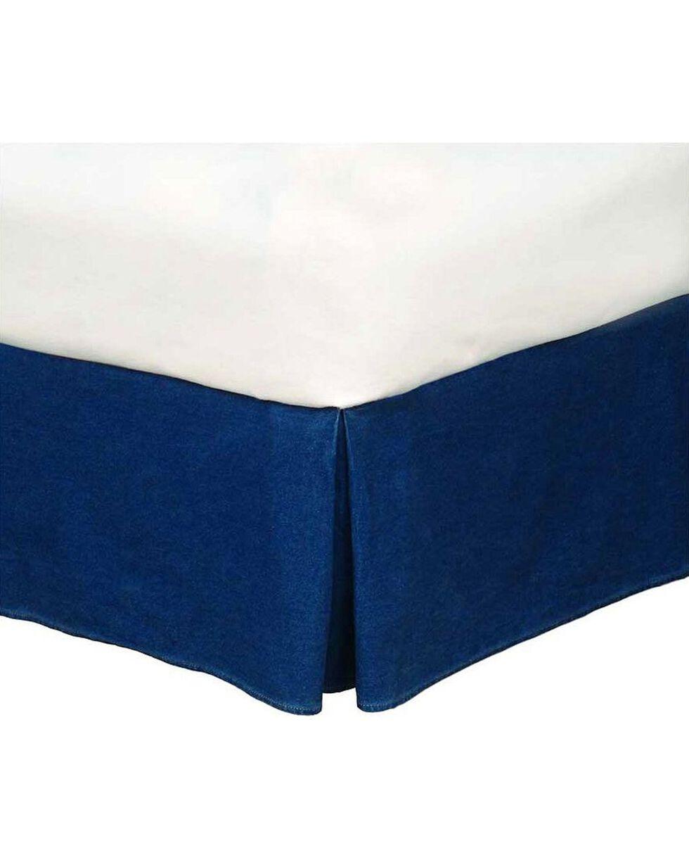 Karin Maki Denim California King Size Bedskirt, Denim, hi-res