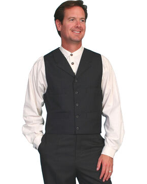 Wahmaker by Scully Classic Black Vest, Black, hi-res