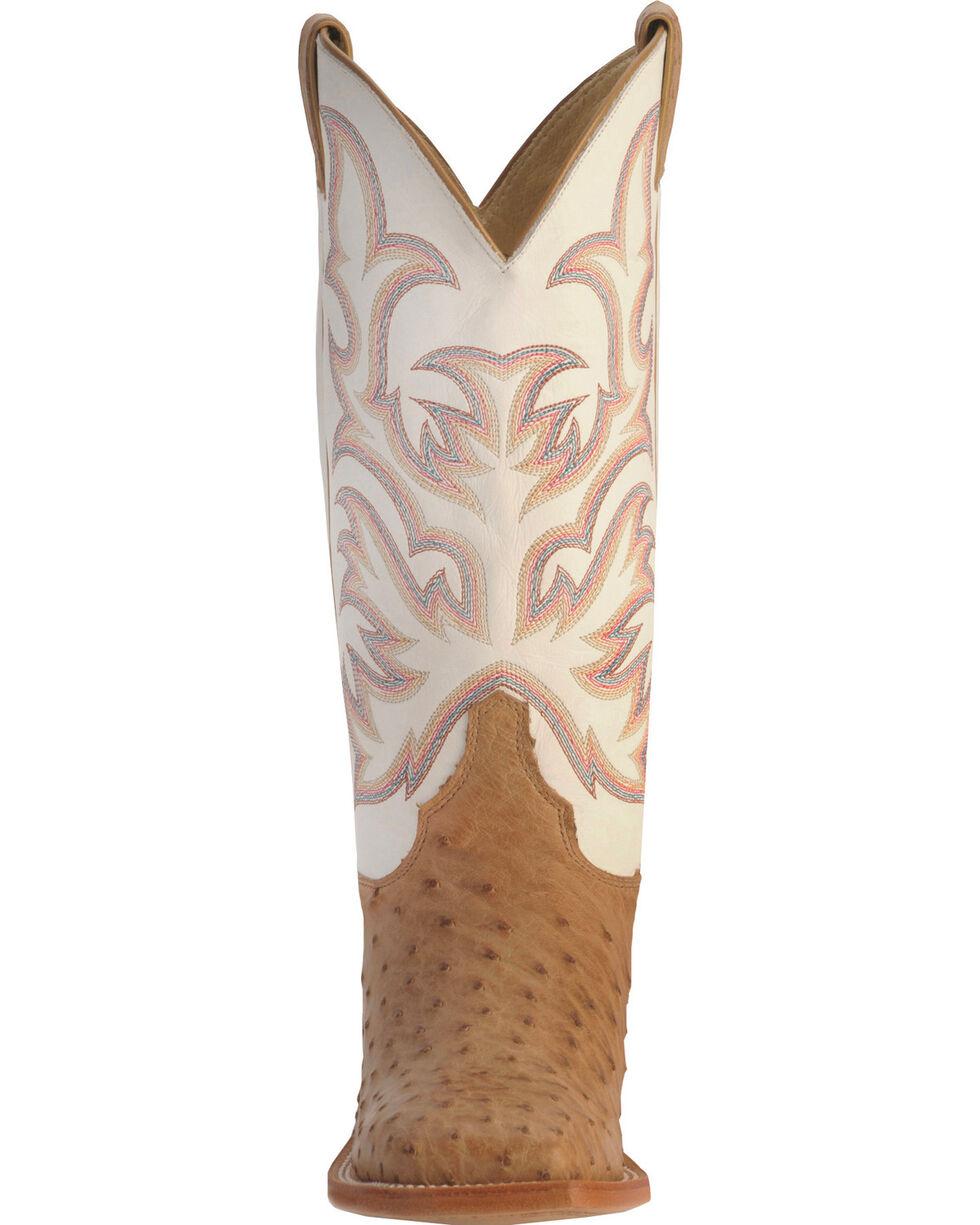 Justin Men's AQHA Remuda Full Quill Ostrich Exotic Boots, Tan, hi-res